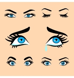 women eyes expressions set 1 vector image vector image
