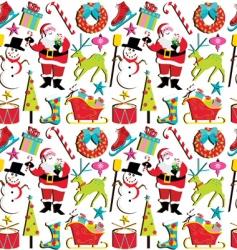 Christmas retro wallpaper vector image