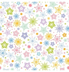 Colorful stars seamless pattern background vector image