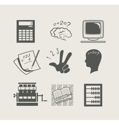 devices for calculation set vector image vector image