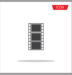 film icon on white background vector image vector image