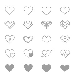 Heart Icons Line Set Of copy vector image vector image