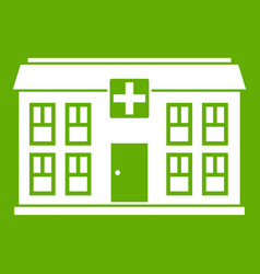 hospital icon green vector image vector image