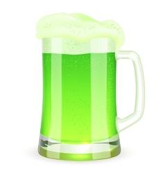 Saint Patricks Day pint of green beer vector image vector image