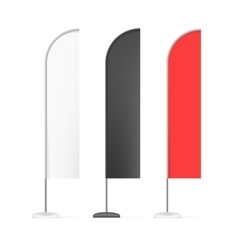 Set of White Black and Red Outdoor Blade Straight vector image vector image