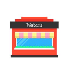 simple shop building icon vector image