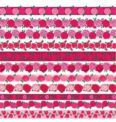 rose border patterns vector image
