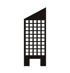 silhouette monochrome with skyscraper building vector image vector image
