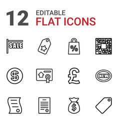 12 price icons vector