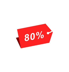 80 discount hang tag template vector image