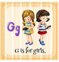 A letter G for girls vector