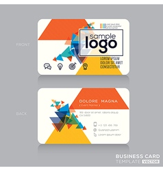 Abstract Modern Business card Design Template vector image
