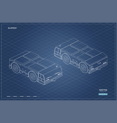 airplane towing vehicle in isometric style vector image
