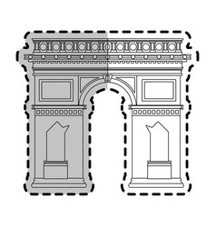 arc de triomphe paris icon image vector image