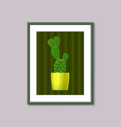 Art painting with cactus vector