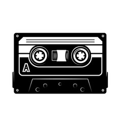 audio cassette design element for logo label vector image
