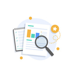 Auditing and business analysis conceptauditing ta vector