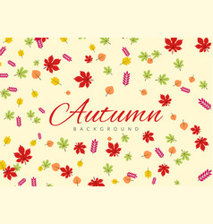 autumn leaves background with leaves colorful vector image