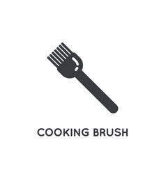 baker brush pastry glyph element or icon vector image
