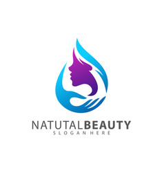 beauty care logo design element vector image