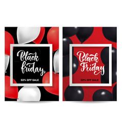 black friday sale set vertical posters vector image