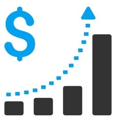 Business Bar Chart Positive Trend Icon vector
