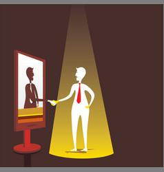 businessmen virtual meeting concept design vector image
