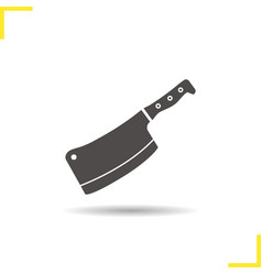 Butcher knife icon vector
