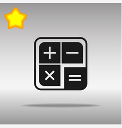 Calculator icon flat design vector