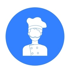 Chef icon in black style isolated on white vector