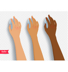 collection of hands with computer mouse vector image