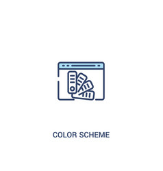 Color scheme concept 2 colored icon simple line vector