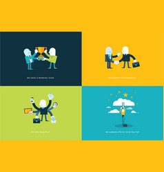 concept business icons vector image