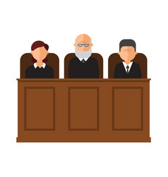 Court trial courtroom vector