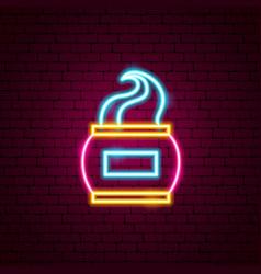 cream neon sign vector image