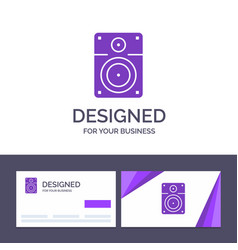 Creative business card and logo template speaker vector