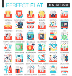 dental care complex flat icon concept vector image