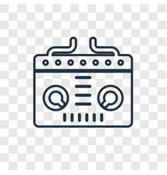 dj concept linear icon isolated on transparent vector image