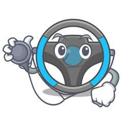 doctor steering wheel isolated in the cartoon vector image
