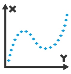 Dotted Function Graph Toolbar Icon vector