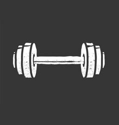 dumbbell weight vintage icon logo isolated black vector image