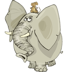 elephant and mouse vector image