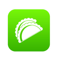 Empanadas de pollo icon digital green vector