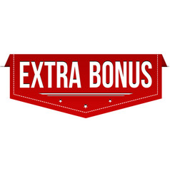 Extra bonus banner design vector