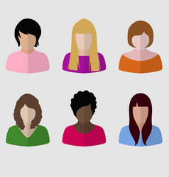 female icon set vector image