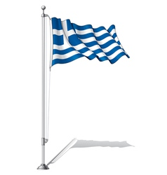Flag Pole Greece vector