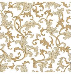 flora seamless pattern flourish tiled oriental vector image