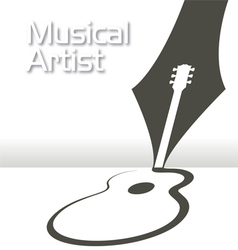 GUITAR Pen Music vector image vector image