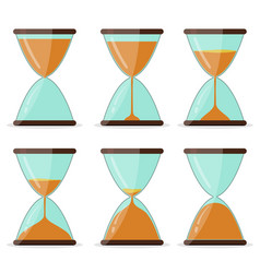 hourglass frame set pictures for animation vector image