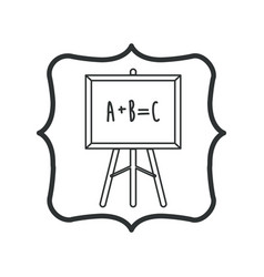 Isolated blackboard of school design vector